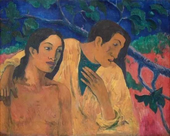 保罗·高更,《逃离》,1902布面油画72.5 × 92.5 cm现藏于布拉格国家美术馆