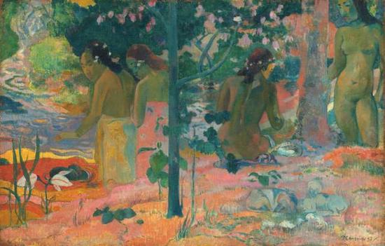 保罗·高更,《洗浴者》,1897布面油画60.4 × 93.4 cm现藏于英国国家美术馆