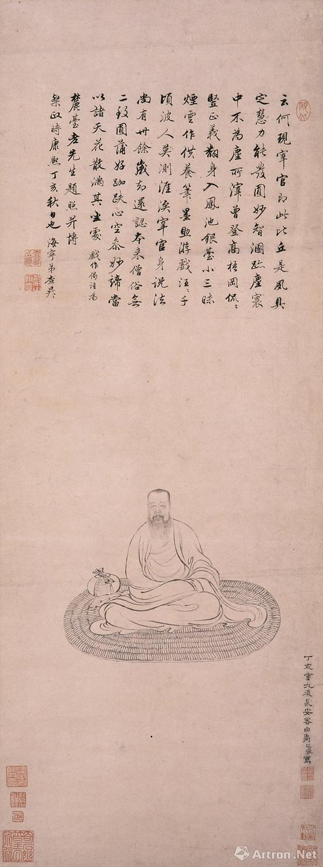 清·禹之鼎《王原祁像》轴