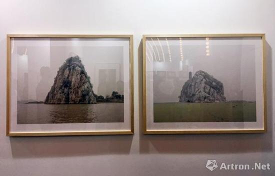 张克纯 大孤山和小孤山 80x100cmx2 2/7 2011 收藏级艺术微喷 售价4.8万元