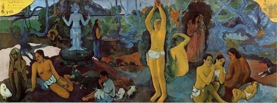 保罗·高更,《我们从哪里来?我们是谁?我们去向何处?》,189729.2 × 60 cm私人收藏