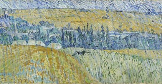 文森特·梵高,《奥维尔的雨》,1890年