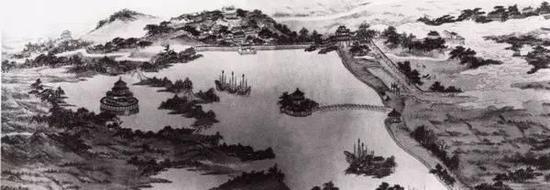 清·弘旿《都畿水利图卷》,纸本浅设色,现藏中国国家博物馆