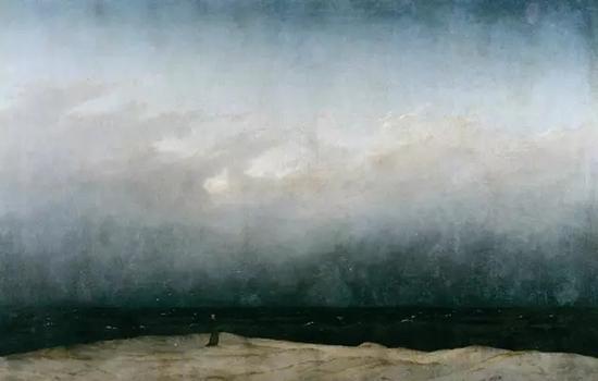 卡斯帕· 大卫·弗里德里希《海边僧侣》 约1809年作德国柏林旧国家美术馆藏