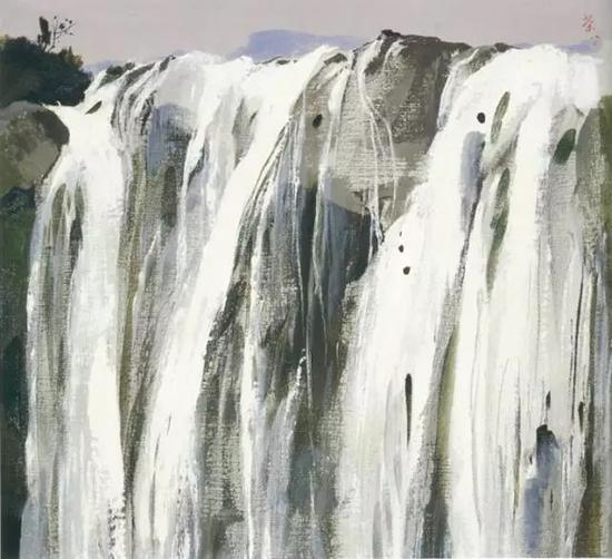 吴冠中《瀑布》1980年作