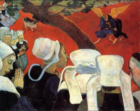 保罗·高更,《布道后的幻象》,1888年