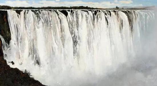 吴冠中《坦桑尼亚大瀑布》