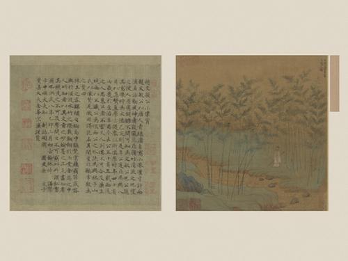 赵孟頫自写小像册页。图片来源:故宫博物院网站