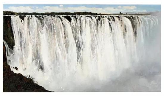 吴冠中 坦桑尼亚大瀑布1975 年作油彩 画布100.3 x 179.6 cm。估价:HK$ 36,000,000 - 56,000,000