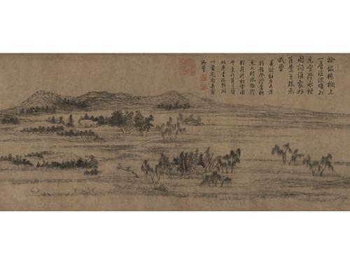 赵孟頫水村图卷。图片来源:故宫博物院网站