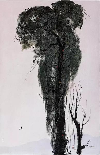 吴冠中 《在天涯》 1998 年作 油彩麻布 92.3 x 60.1 cm。 估价:HK$ 5,000,000 - 7,000,000