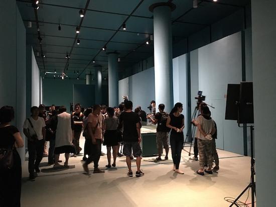 展览千里江山图的那个展厅内景