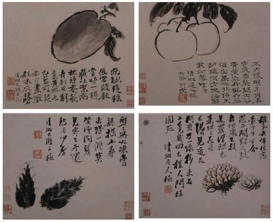八开蔬果册 纸本设色 24.3cm×30cm 上海博物馆