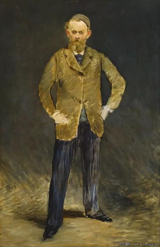 马奈 戴无檐软帽的自画像 53x81cm 1879 东京普利司通美术馆