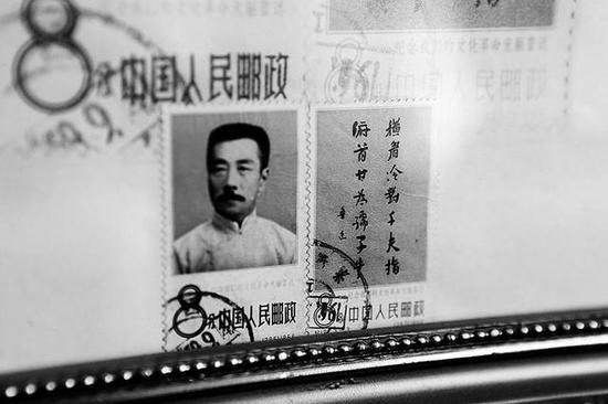 雷树森收藏的邮票本报记者党运摄