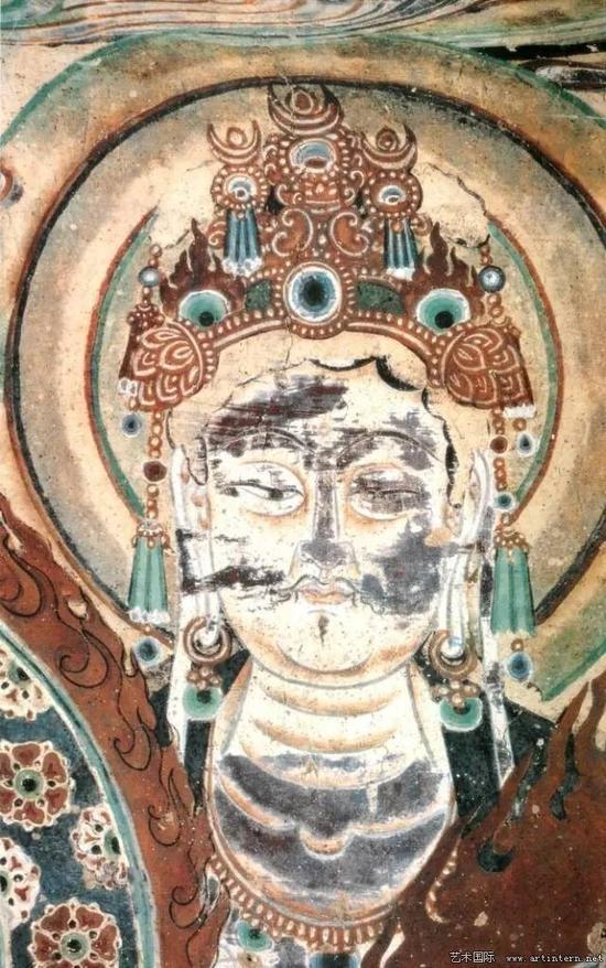 敦煌壁画(二一七窟)菩萨头像