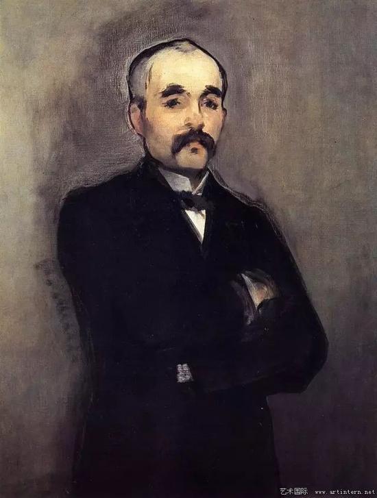 马奈 克莱蒙梭肖像 94.5×74cm 1880 奥赛美术馆
