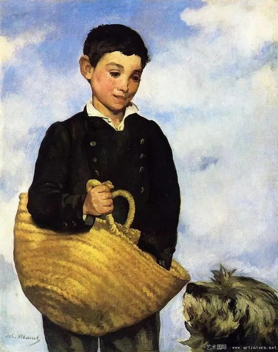 马奈 带狗的男孩 145x113cm 1861 私人收藏