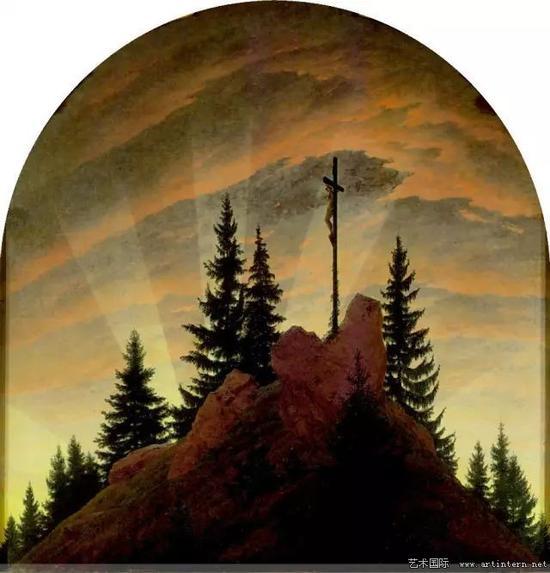 弗里德里希《山中十字架》