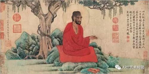 赵孟頫红衣西域僧