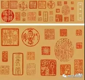 """赵孟頫的多幅字画上,都有他老人家的朱印和""""墨宝""""。先来看这幅开启元四家画风的代表之作,赵孟頫的这幅《水村图》。"""