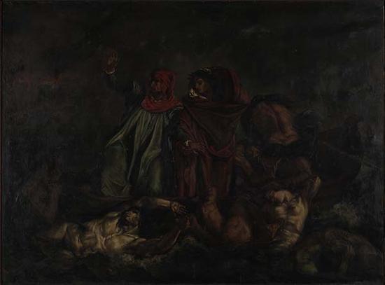 刘海粟旅法期间临摹的油画《但丁之舟》
