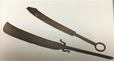 打捞出水的当时清军士兵还在使用的大刀