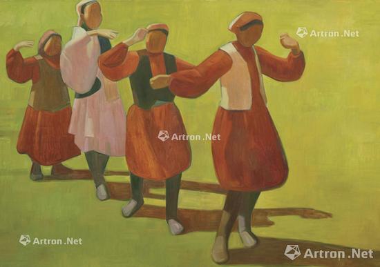王音2014年的新作《民族舞》将在香港蘇富比秋拍现当代艺术夜场中上拍,估价为120-250万港元