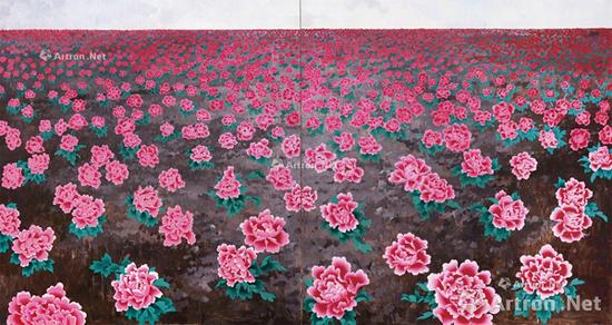王音《花》系列最大尺幅(225×420cm)作品在2017北京匡时春拍成交价230万元,为王音目前的拍卖纪录