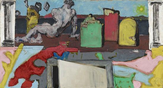 吕佩尔茨,《阿卡迪亚》,120x220,综合材料,2011