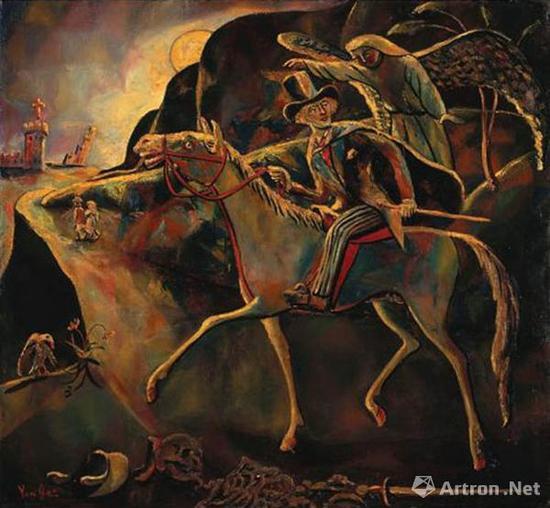 朱沅芷《自由之路》 布面油画 90.4x102cm 1949年