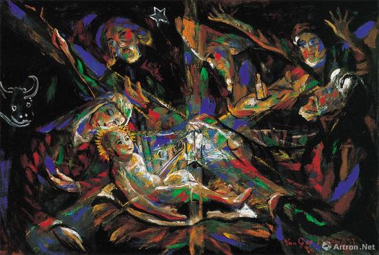 朱沅芷《耶稣诞生》 油画画布96.5×66cm 1953年作