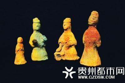 黄金湾遗址汉晋时期墓葬出土陶俑-人物俑。