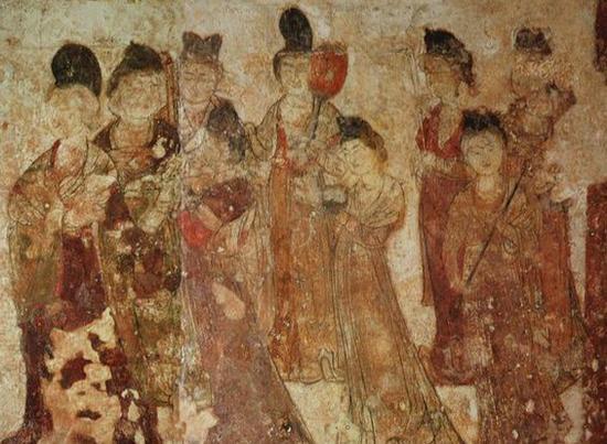 壁画中的唐代女性