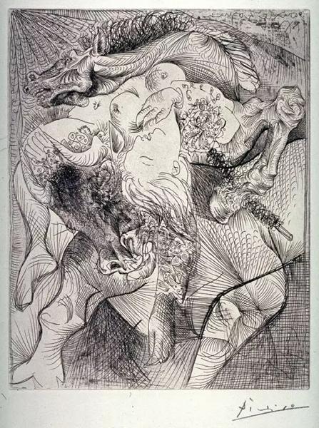 毕加索,《女斗牛士》,1934年
