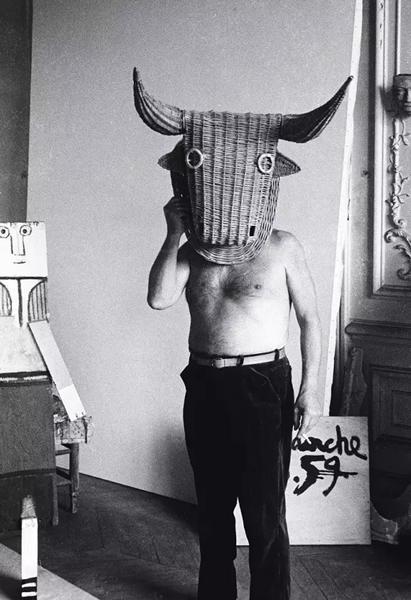 戴着斗牛士面具的毕加索