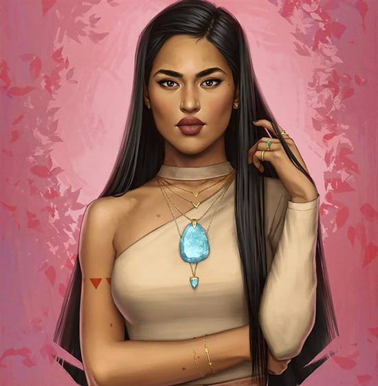 《风中奇缘》的印第安公主Pocahontas