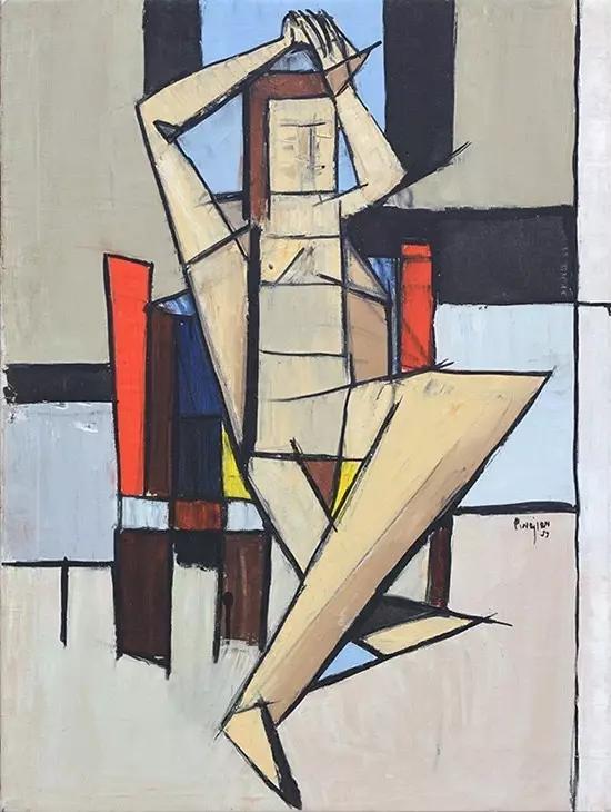 亚瑟·皮那让《立体主义人像》,1959年