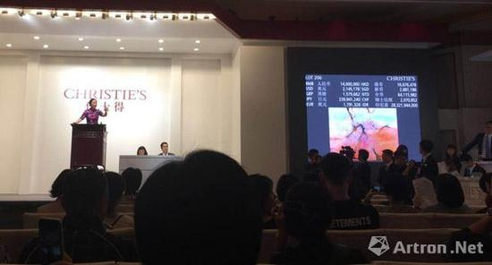 佳士得拍卖(上海)2017秋拍卖现场