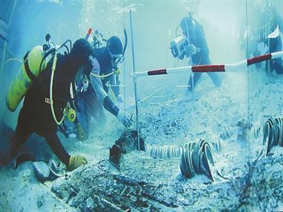 水下考古作业