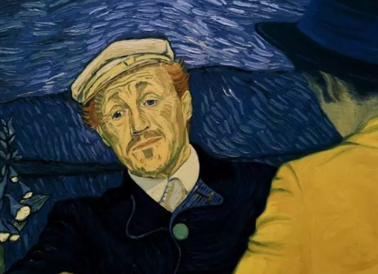 Jerome Flynn所扮演的Gachet医生。图片:Courtesy Good Deed Entertainment and Loving Vincent