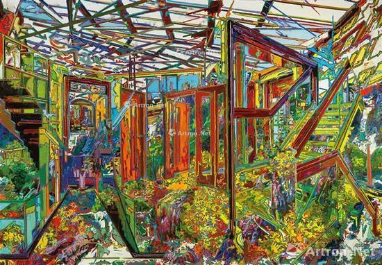 由金《路径-后花园2》180×260cm 布面油画 2015年作