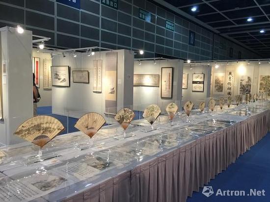 中国书画预展现场