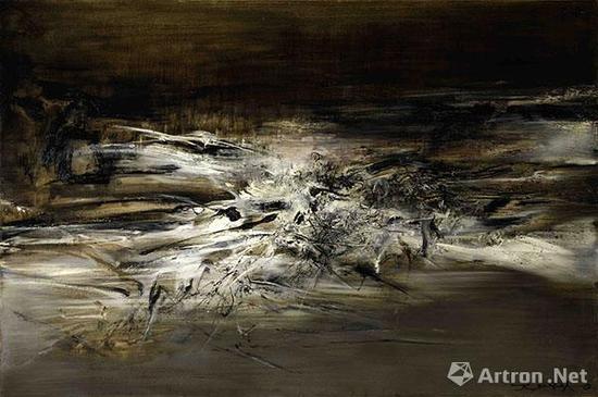 赵无极《09.01.63》 1963年作 油彩画布 130 x 195公分 估价:5000-7000万港元