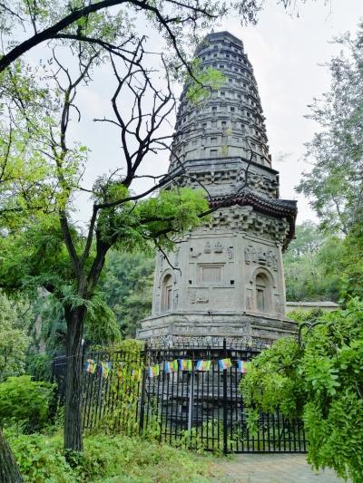 万佛堂辽代花塔在发现盗情后,相关部门在古塔周围安装了金属护栏