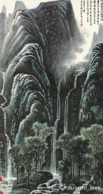 李可染 《千岩竞秀万壑争流》1978年作 设色纸本 171x94公分 估价待询