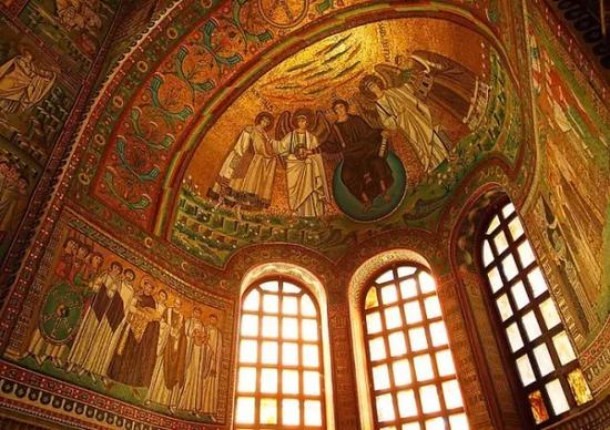 圣维塔莱教堂的穹顶一角