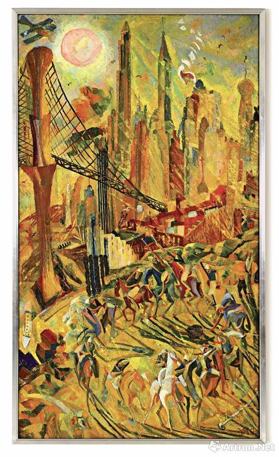 ▲朱沅芷《工业之轮在纽约》 成交价:105,287,500港币
