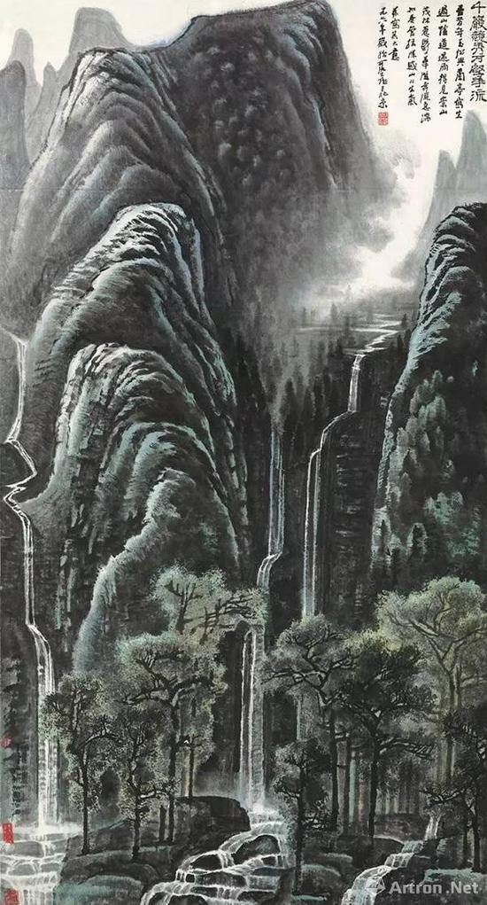 李可染《千岩竞秀万壑争流》 1.22亿港币 香港蘇富比
