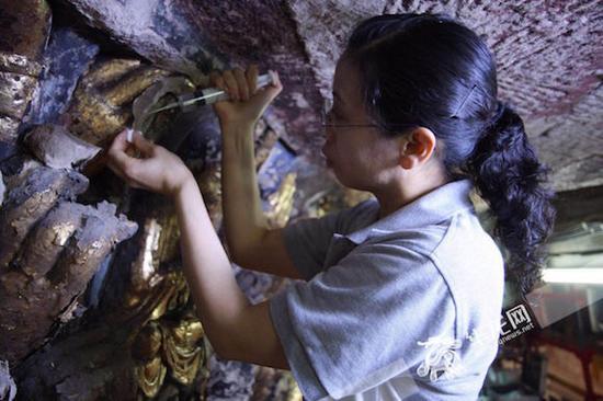 工作中的陈卉丽。受访者供图 华龙网发